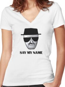 Breaking Bad Walter White Heisemberg Quotes Women's Fitted V-Neck T-Shirt