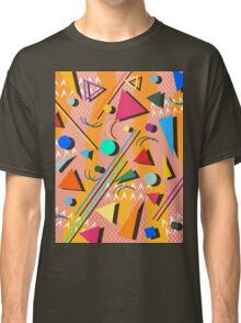 80s pop retro pattern Classic T-Shirt