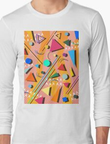 80s pop retro pattern Long Sleeve T-Shirt