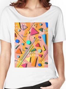 80s pop retro pattern Women's Relaxed Fit T-Shirt