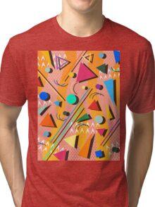 80s pop retro pattern Tri-blend T-Shirt