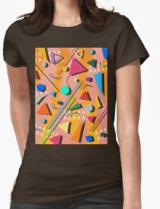 80s pop retro pattern Womens Fitted T-Shirt