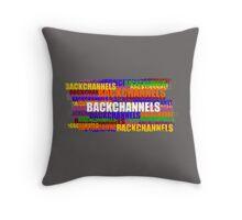 BACKCHANNELS! Throw Pillow
