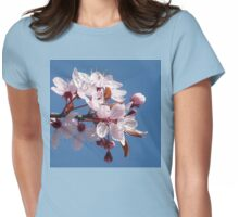 Cherry Blossom Against A Blue Sky Womens Fitted T-Shirt