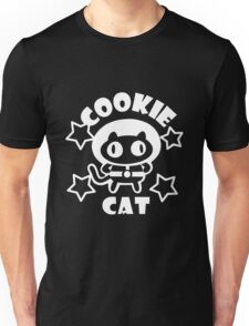 Cookie Cat - Black & White w/ text Unisex T-Shirt