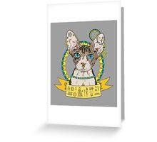 Bastet, The Egyptian Cat Goddess Greeting Card