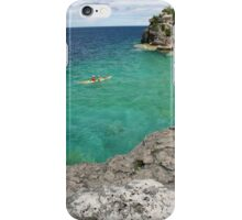 Kayaking On Clear Water iPhone Case/Skin