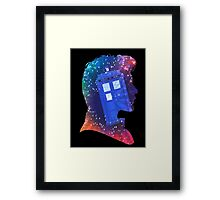 The Eleventh Doctor Silhouette with TARDIS Framed Print