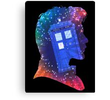 The Eleventh Doctor Silhouette with TARDIS Canvas Print