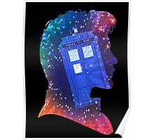 The Eleventh Doctor Silhouette with TARDIS Poster
