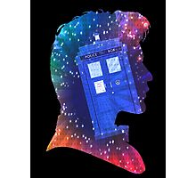 The Eleventh Doctor Silhouette with TARDIS Photographic Print