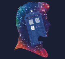 The Eleventh Doctor Silhouette with TARDIS One Piece - Short Sleeve
