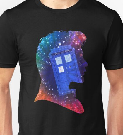 The Eleventh Doctor Silhouette with TARDIS Unisex T-Shirt