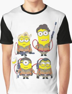 Minion Ghostbuster Graphic T-Shirt