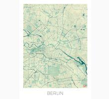 Berlin Map Blue Vintage Unisex T-Shirt