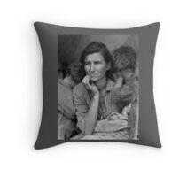 Migrant Mother by Dorothea Lange (1936) Throw Pillow