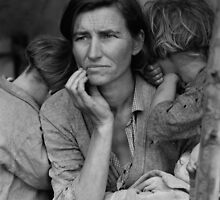 Migrant Mother by Dorothea Lange (1936) by allhistory