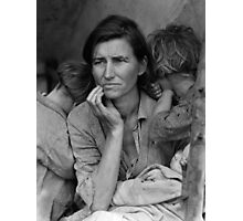 Migrant Mother by Dorothea Lange (1936) Photographic Print