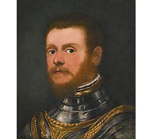 Circle of Jacopo Robusti, called Jacopo Tintoretto PORTRAIT OF A BEARDED MAN, BUST LENGTH, IN ARMOUR Photographic Print