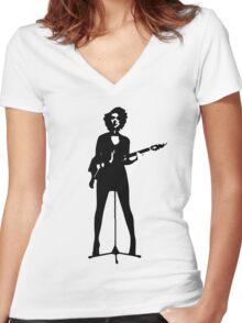 st vincent Women's Fitted V-Neck T-Shirt