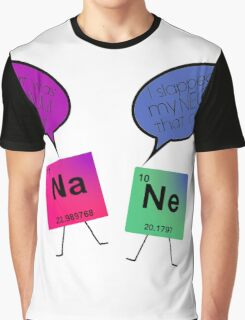 Sodium and Neon Chemistry Pun Graphic T-Shirt