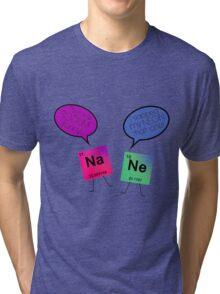 Sodium and Neon Chemistry Pun Tri-blend T-Shirt