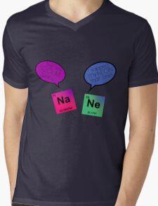 Sodium and Neon Chemistry Pun Mens V-Neck T-Shirt