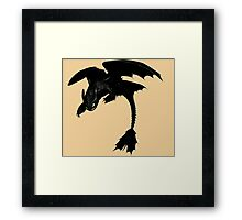 How to Train Your Dragon Night Fury, the Beginning Framed Print