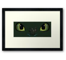 How to Train Your Dragon The Eyes of Night Fury Framed Print