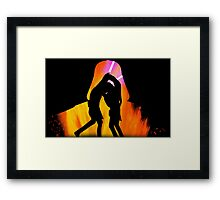 Star Wars - Anakin Skywalker Vs Obi Wan Kenobi Framed Print