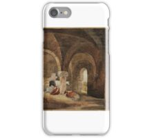 David Cox Title Crypt of Kirkstall Abbey (after J.M.W. Turner). iPhone Case/Skin
