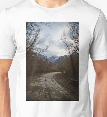 Road with mountain II Unisex T-Shirt