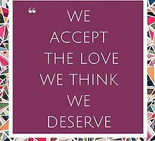Accept the Love (Purple) by Becca Lillian