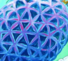 Flower of Life Sea Turtle Sticker