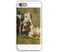David Gauld, R.S.A.  AYRSHIRE CALVES iPhone Case/Skin