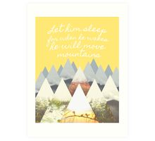 He Moves Mountains - Yellow Art Print