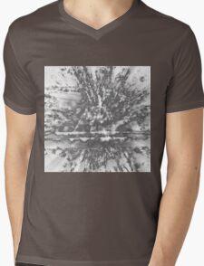 0126 Silver Mens V-Neck T-Shirt