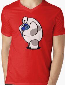 Baymax Hairy Mens V-Neck T-Shirt