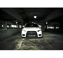 White Evo 10 Photographic Print