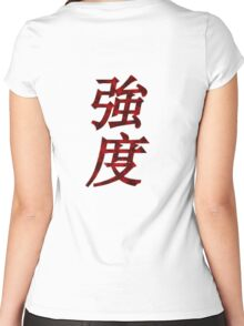 Strength In Chinese Women's Fitted Scoop T-Shirt
