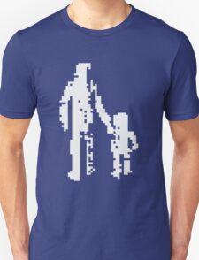 1 bit pixel pedestrians (white) Unisex T-Shirt