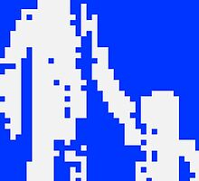 1 bit pixel pedestrians (white) by Pekka Nikrus