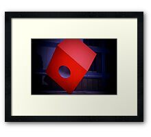 The Big Red Cube Framed Print