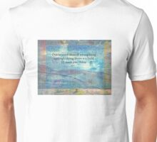 Rumi Friendship Peace Quote landscape iznik tiles  Unisex T-Shirt
