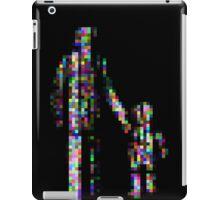 8 bit pixel pedestrians (color on black) iPad Case/Skin