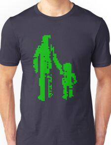 1 bit pixel pedestrians (green) Unisex T-Shirt