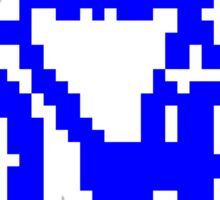 1 bit pixel bike (blue) Sticker