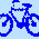 1 bit pixel bike (blue) by Pekka Nikrus