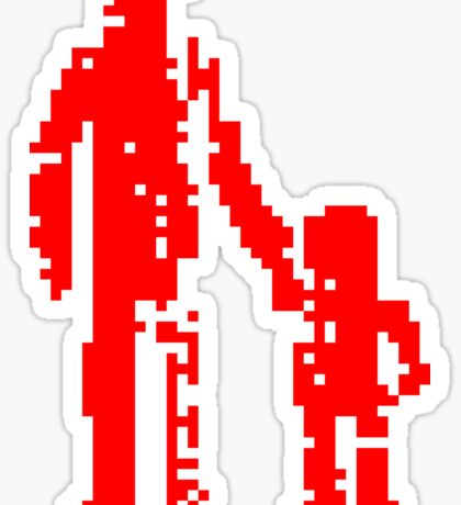 1 bit pixel pedestrians (red) Sticker