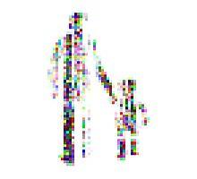 8 bit pixel pedestrians (color on white) Photographic Print